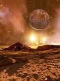 Earthlike Alien Planet  Artwork
