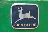 Vintage John Deere Tractor Metal Emblem Plastic Sign