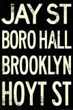 New York City Brooklyn Jay St Vintage RetroMetro Subway Plastic Sign