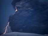Volcanic Lightning  Iceland  April 2010