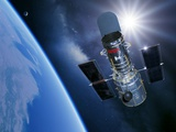 Hubble Space Telescope In Orbit  Artwork
