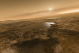 Liquid Hydrocarbons on Titan  Artwork