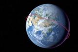 Gagarin's Orbit In Vostok 1  1961