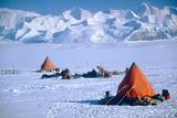 Skidoo Maintenance  Antarctica  Mountains