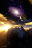 Alien Sky At Sunset  Computer Artwork
