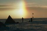 Sundog Behind Camp on Ice Stream  Antarctica