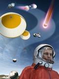 Yuri Gagarin's Landing  Artwork