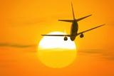 Boeing 737 Ascending At Sunset  Artwork