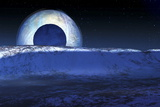 Charon's Shadow Cast on Pluto