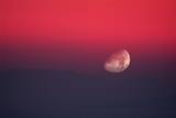 Setting Moon In a Red Sky
