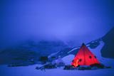 Illuminated Tent In Semi-darkness  Antarc
