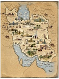 Iran  Pictorial Map