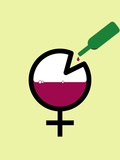 Female Binge Drinking  Conceptual Image