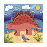 Baby Steggy The Stegosaurus Giclée premium par Sophie Harding