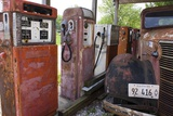 Rusty Gas Pumps And Car