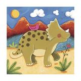 Baby Timmy The Triceratops Giclée premium par Sophie Harding