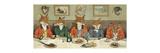 Mr. Fox's Hunt Breakfast Giclée premium par H Neilson