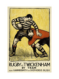 Rugby at Twickenham Giclée premium par The Vintage Collection
