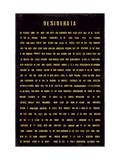 Desiderata, en anglais Giclée premium par The Vintage Collection