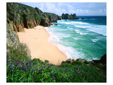 View of Porthcurno Beach  Cornwall  England  Great Britain