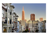 View from the Urban District of North Beach towards Transamerica Pyramid  San Francisco