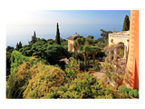 View from Villa Hanbury at Hanbury Botanic Gardens near Ventimiglia  Liguria  Italy