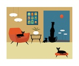 Mid Century Modern Dogs and Cats