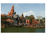 Big Thunder Mountain Train in the Frontier Land  Disneyland Park Paris  Ile-de-France  France