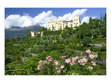 Italian Garden towards water and terraced garden  Trauttmansdorff Castle Gardens  Merano  Italy