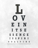 Eye Chart Typography I