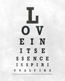 Eye Chart Typography I