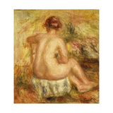 Seated Female Nude  View from behind
