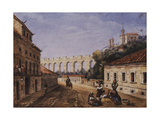 The Aqueduct and Convent of Sta Teresa  Matacavallos Street  Rio de Janeiro