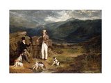 Two Gentlemen with Pointers on a Grouse Moor