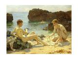 The Sun Bathers Giclée par Henry Scott Tuke