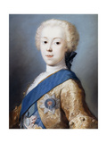Portrait of Prince Charles Edward Stuart in profile to the left