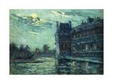 The Floods of 1910  The Pavilon de Flore  at the Louvre  Paris