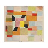 Split Coloured Rectangles Giclée par Paul Klee