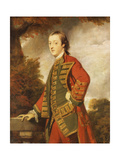 Portrait of Sir Gerard Napier  6th Bt (1739-1765)  in the Uniform of the Dorsetshire Militia