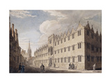 Oriel College  Oxford  with St Mary's Church in the Distance