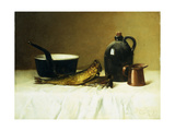 Still life with Herring  Pot  Jug and Measure
