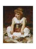 Portrait of a Girl seated on a Rug