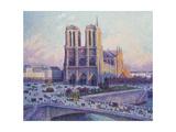 Notre-Dame de Paris  Vue du Quai Saint-Michel