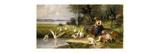 Woman and Geese; Madchen und Gansen