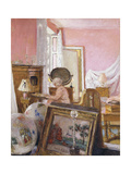 Madam Hessel in her bedroom at Chateau Clayes