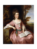 Portrait of Martha Ray (c1745-1779)  seated three-quarter-length  in a Pink Dress with a Blue Sash