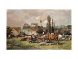 A Market by a Village