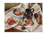 Still Life with Apples  Plums and a Jug