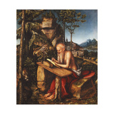 Saint Jerome Writing in a Rocky Landscape