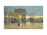 Arc de Triumphe Giclée par Eugene Galien-Laloue